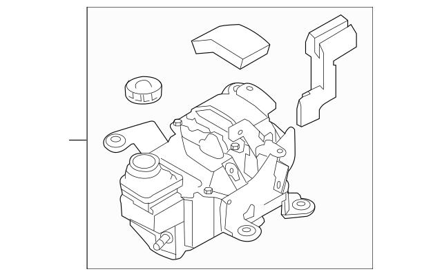 2012-2017 Nissan Quest Power Steering Pump 49110-3JW5B