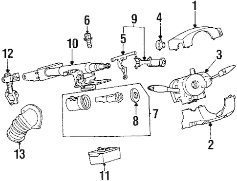 15841209 IGNITION CYLINDER (UNCODED) for 2002 Saturn SL1