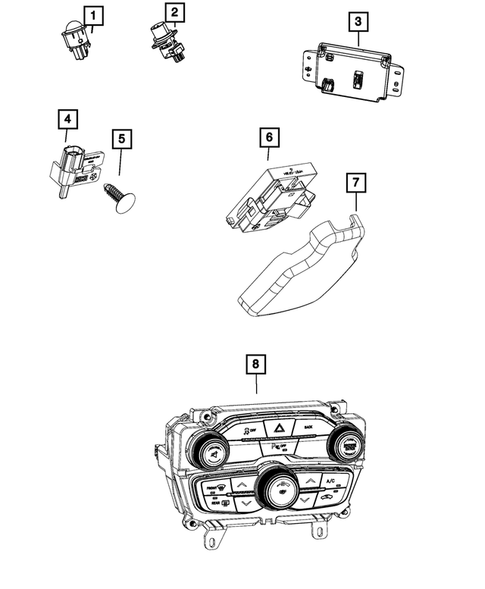 Air Conditioner and Heater Controls for 2017 Dodge
