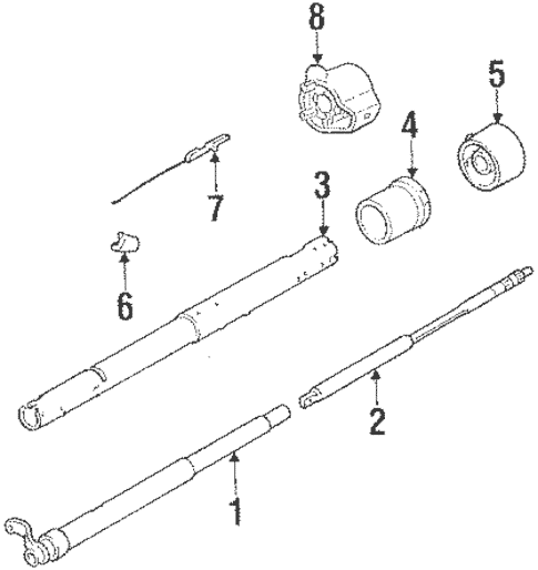 Steering Column Assembly Parts for 1984 Chevrolet C/K