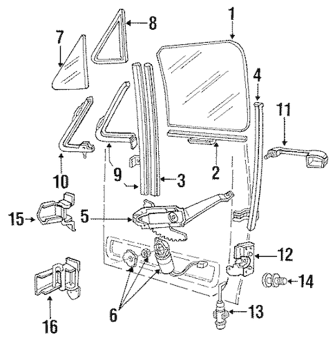 Rear Door for 1989 Ford F-250