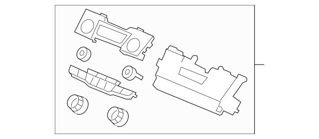 2011-2012 Honda ODYSSEY 5-DOOR Control Assembly, Heater