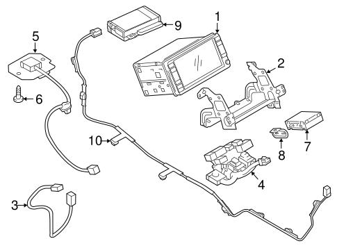 Navigation System Components for 2017 Mitsubishi Outlander