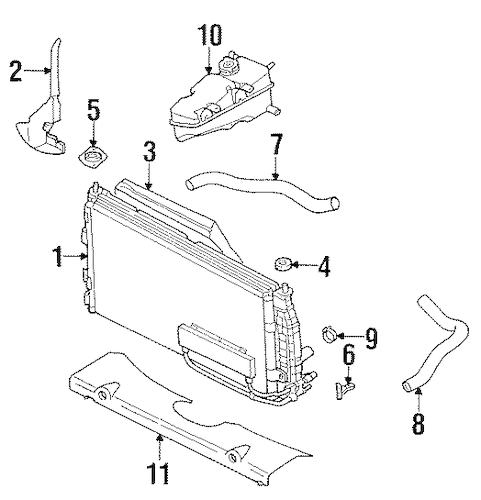 RADIATOR & COMPONENTS for 1999 Chrysler LHS