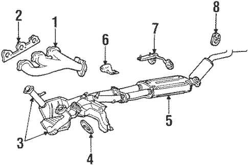 Exhaust Components for 1998 Mercury Mountaineer