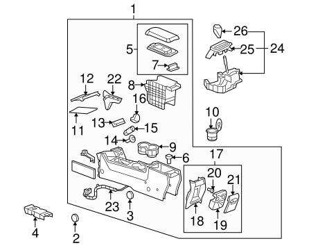 CONSOLE Parts for 2008 Pontiac G6