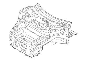2012-2019 Porsche 911 Ft Inner Structure 991-501-991-01