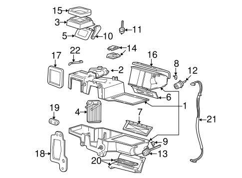 Evaporator & Heater Components for 2002 Ford Ranger