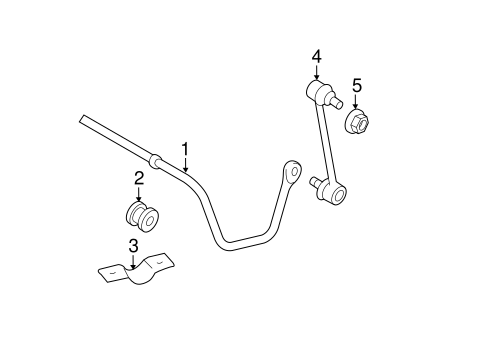 Stabilizer Bar & Components for 2009 Toyota Camry