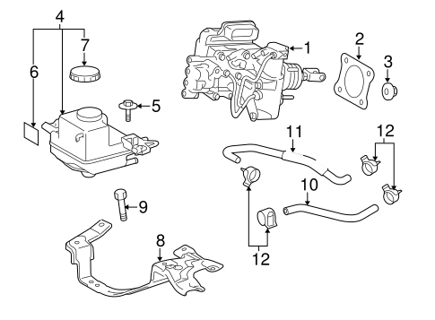 Genuine OEM Hydraulic System Parts for 2012 Toyota Prius V
