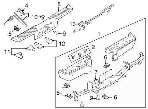 2008-2014 Ford Super Duty Backup Sensor Retainer Bracket