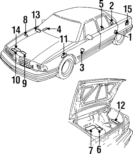 989 ford f auto electrical wiring diagram Oldsmobile Delta 88 oem 1998 oldsmobile 88 labels parts