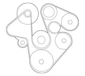 Genuine OEM Serpentine Belt Part# ERR6896 Fits 1999-2004