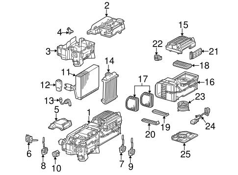 Evaporator & Heater Components for 1999 Mercedes-Benz E