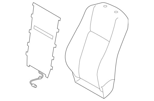 2014-2019 Toyota Highlander Seat Back Cover 71073-0E310-A1