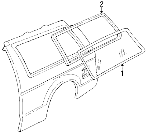 GLASS & HARDWARE for 1994 Chevrolet S10 Blazer (Tahoe)
