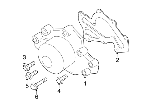 05 Hyundai Sonata GLS V6 2.7L Water Pump Bolt Diagram
