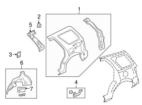 Genuine OEM Inner Structure Parts For 2010 Mazda Tribute i