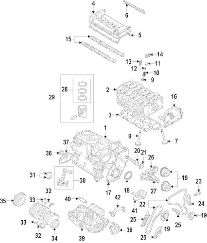 OEM VW Engine for 2008 Volkswagen R32
