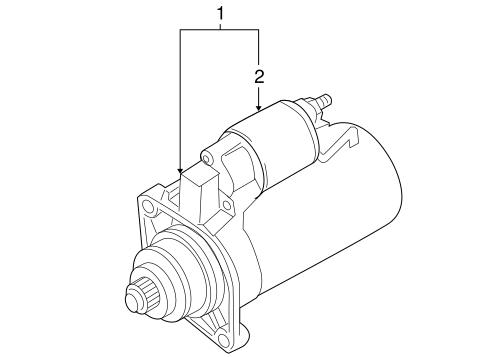 Starter & Related Components for 2007 Volkswagen Jetta