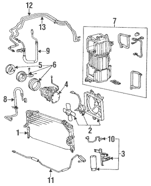 Condenser, Compressor & Lines for 1991 Toyota Celica