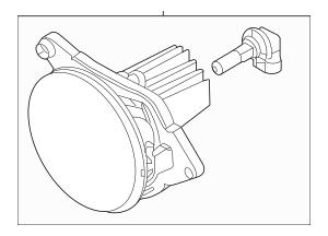 2013-2014 Ford Mustang Fog Lamp Assembly DR3Z-15200-C