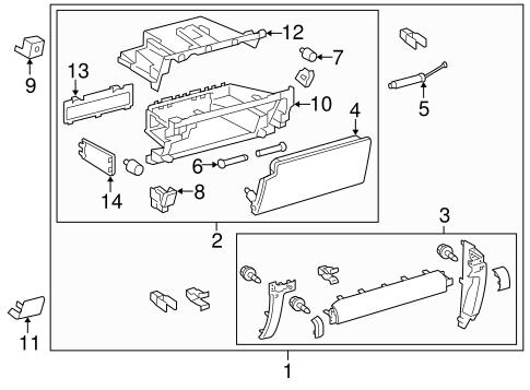 Glove Box for 2015 Toyota 4Runner
