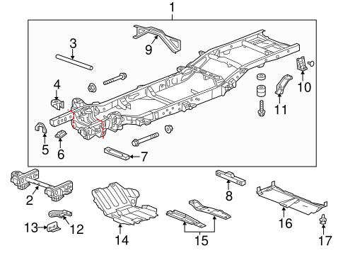 Frame & Components Parts for 2014 Chevrolet Silverado 1500