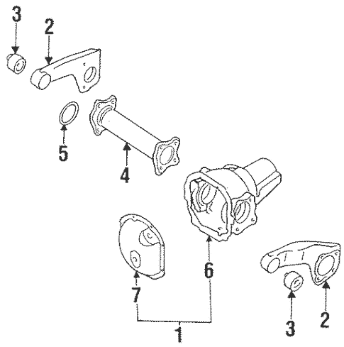 Carrier & Components for 1997 Mitsubishi Montero