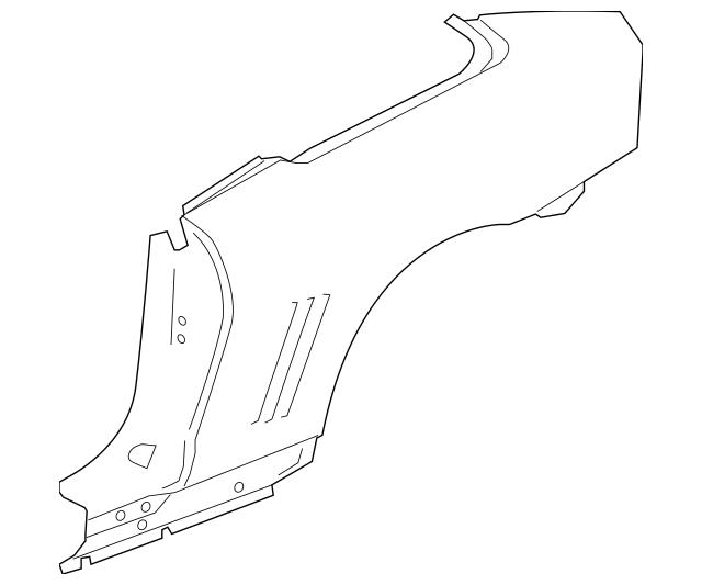 2011-2015 Chevrolet Camaro Quarter Panel 22793396