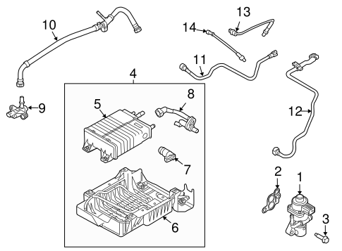 Lower Oxygen Sensor for 2009 Ford Escape|5W6Z-9G444-BA