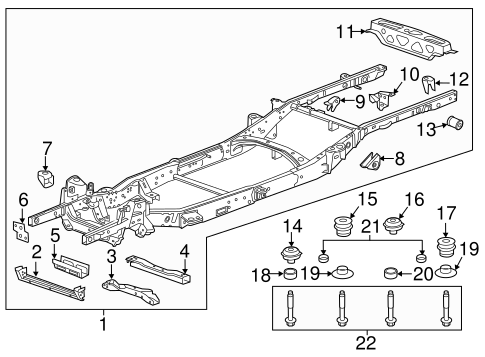 OEM 2016 Chevrolet Colorado Frame & Components Parts