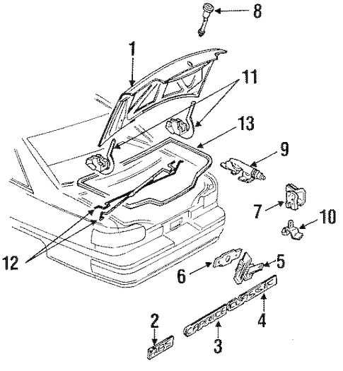 OEM LID & COMPONENTS for 1992 Chevrolet Caprice