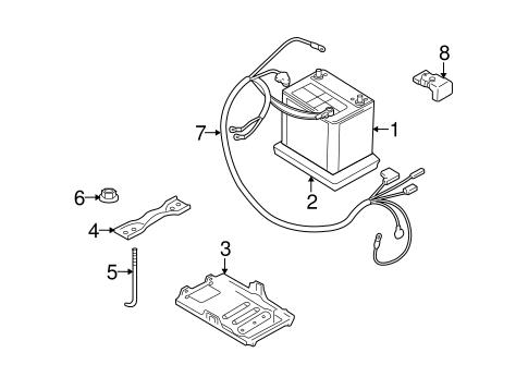 Battery & Related Components for 2010 Suzuki Grand Vitara