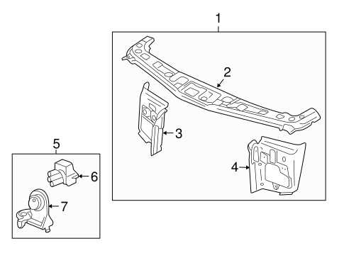 RADIATOR SUPPORT for 2007 Saturn Vue