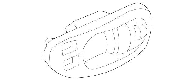 2001-2002 Mazda Millenia Handle, Inside Bezel TA01-59-303A