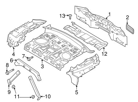 OEM 2014 Lincoln MKZ Rear Body Parts