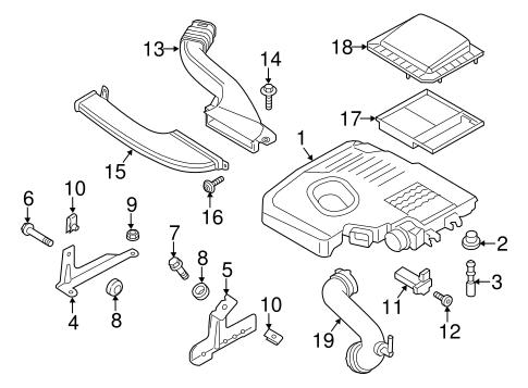 OEM 2016 Ford Fusion Air Intake Parts