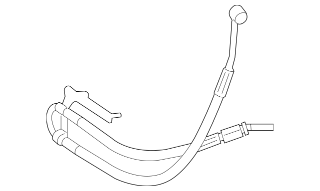 2010-2011 Mercedes-Benz ML 450 Pressure Hose 251-460-10-24