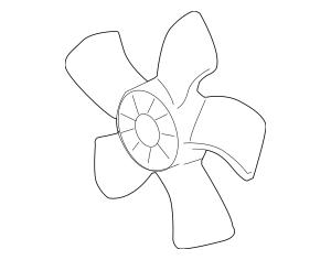 2005-2012 Acura RL SEDAN Fan, Cooling (Denso) 19020-RJA