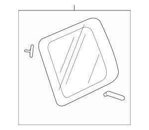 Genuine 2012-2015 Honda PILOT 5-DOOR Glass Set, L Quarter