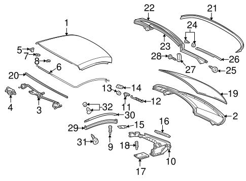TOP & COMPONENTS for 1999 Mercedes-Benz SLK230