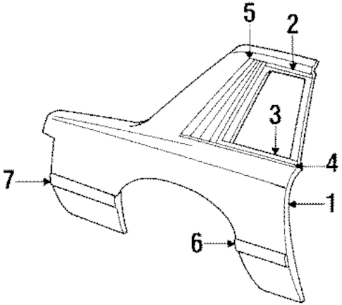 QUARTER PANEL for 1984 Mercury Capri