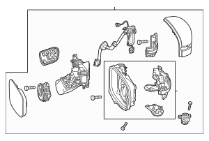 Honda Mirror Assembly, R Door *NH797M*(R.C.)(Heated