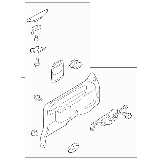 2002-2003 Mazda MPV Side Trim Panel LD55-68-59YB-80