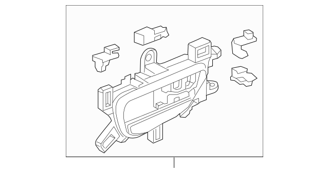 Handle Assembly, L Rear Inside *NH802L* (Light Jewel Gray