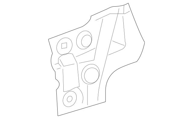 2003-2010 Porsche Cayenne Plenum Panel 955-572-575-00