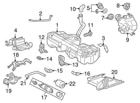 Fuel System Components for 2003 Mercedes-Benz CLK 430