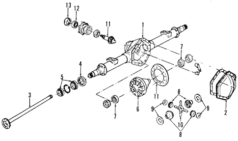REAR AXLE for 1990 Chevrolet G30