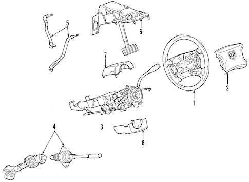 Steering Column Assembly for 2006 Dodge Dakota